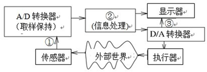 下图是数字信号处理器(DSP)的典型应用方式,其中的①、②和③分别是()。