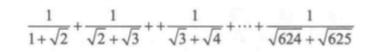 (加法)编写程序,计算下面的和。