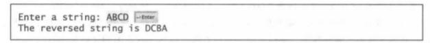 (倒排一个字符串)编写一个程序,提示用户输入一个字符串,然后以反序显示该字符串。