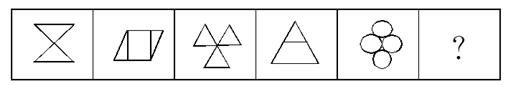 请从所给的四个选项中,选择最合适的一个填入问号处,使之呈现一定的规律性: