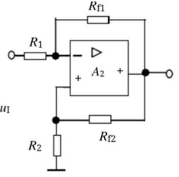运算放大器电路如图示,R f1 和R f2 均为反馈电阻,则下列陈述正确的是()