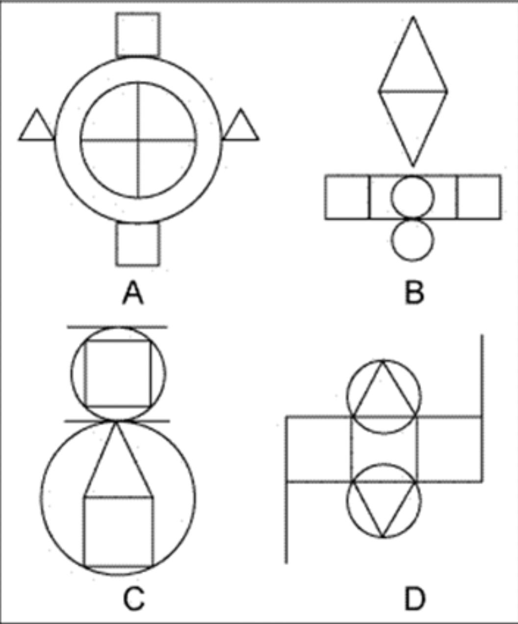 下面图形中,哪一个和其他的不一样?()