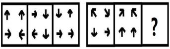根据图形规律,填入问号处的图形应该是( )。