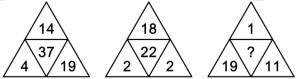 根据下列数字规律,应填入括号处的数字是( )?