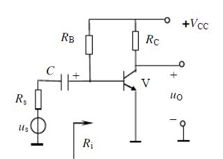 在图示电路中,Ri为其输入电阻,Rs为常数,为使下限频率f降低,应( )。