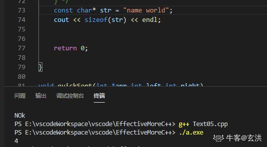 """在64位操作系统下,下列程序的输出结果为()   #include<iostream> usingnamespacestd; { constchar*str=""""namehello""""; printf(""""%d%dn"""",sizeof(str),strlen(str)); return0; }"""