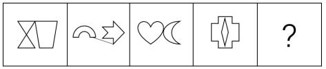 在所给的4个选项中,选择最合适的一个填入问号处,使之呈现一定的规律性。( )